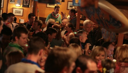 Large crowded bar