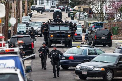 Large boston manhunt