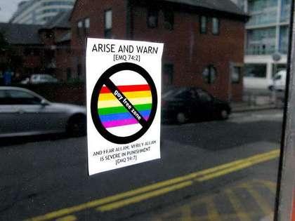 Large anti gay sticker