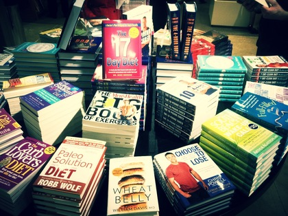 Large bookstore diet books