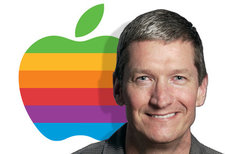 Medium rsz tim cook with rainbow apple logo