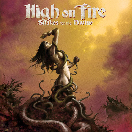 Large high on fire snakes for the divine album cover