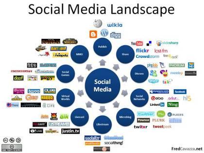 Large social media landscape
