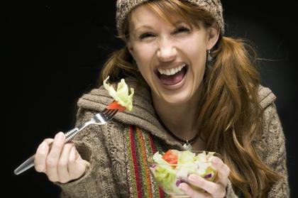 Large salad woman
